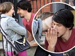 Reunited? New stills of HBO Girls show Lena Dunham and Adam Driver getting close as they filmed in Greenpoint, Brooklyn on Tuesday