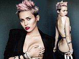 Her raciest photo shoot ever! Miley Cyrus strips off, cups her bare breast and flashes her bottom in eye-popping new images