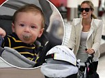 Kristin Cavallari's son Camden looks every inch the chilled out jetsetter as he and his mother touch down in LA