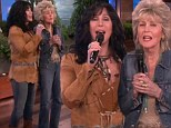 Following in her daughter's footsteps! Cher's mother Georgia Holt joins her on Ellen for a singalong as she promotes album