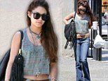 Vanessa Hudgens displayed her flat stomach in North Hollywood on Wednesday