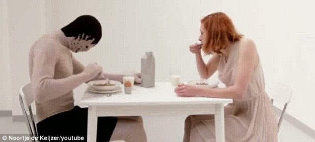 Romantic dinner: 'Arthur' can even have dinner with you, although the conversation might not be up to much