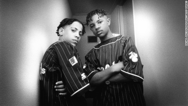Chris Smith, left, and Chris Kelly of the rap duo Kris Kross circa 1992. Kelly died May 1 at the age of 34. Atlanta-area authorities are investigating his death as a possible drug overdose, Fulton County Police Cpl. Kay Lester said.