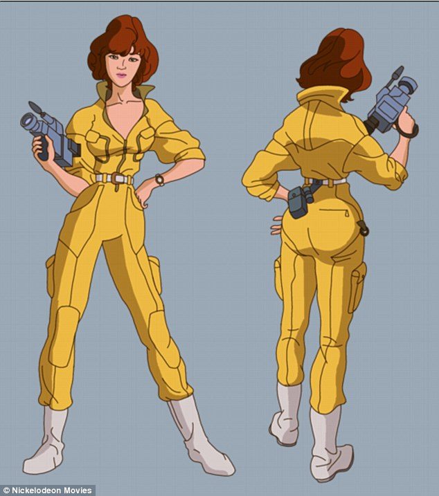 Woman of many talents: April has been characterized as everything from a reporter, computer programmer, and warrior throughout the series
