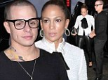 What a gentleman! Protective Casper Smart leads the way after Jennifer Lopez's gunshot drama... as singer squeezes her curves into tight leather trousers