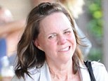 Put through her paces: Sally Field looked exhausted after spin class in Brentwood on Tuesday