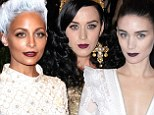 Gothic berry lips dominate the make-up looks at the Met Gala