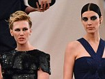 Mad ex! January Jones offered an apparent grimace in the direction of her Mad Men co-star Jessica Pare at the Met Ball, on Monday night