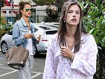 Even supermodels have dressed down days: Alessandra Ambrosio steps out in tracksuit... after being spotted in her nightie