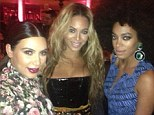 See, we ARE friends: Beyonce and Kim Kardashian pose for Twitter pic at Met ball in their badly reviewed outfits