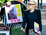 To the world's most fashionable mum: Gwen Stefani proudly shows off her handmade early Mother's Day present