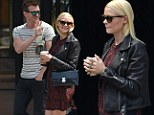 Jaime King shows off her baby bump in New York on Tuesday
