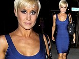 The dancing diet is certainly working! Kellie Pickler shows off her fantastic form in a figure hugging blue dress