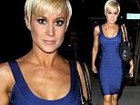 The dancing diet is certainly working! Kellie Pickler shows off her fantastic form in a figure hugging blue dress