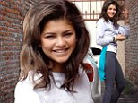 In it to win it! Zendaya arrived fresh-faced and raring to go at the DWTS studio in Los Angeles, California on Wednesday