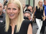 Living up to her title! World's Most Beautiful Woman Gwyneth Paltrow shows off her enviable assets in skintight white jeans