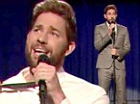 A teenage scream! The Office star John Krasinski channels Katy Perry for hilarious 'lip sync off' on Late Night With Jimmy Fallon