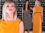 Set to stun! Alice Eve and Zoe Saldana take a demure approach in midlength dresses at Star Trek Into Darkness event