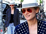 Diane Kruger fashionably mixes spots and seersucker for shopping trip following her exciting night at the Met Ball