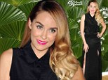 Malibu Barbie! Bronzed beauty Lauren Conrad glows in slit-to-the-thigh black gown as she promotes low-calorie spiced rum