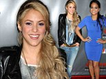 Shakira attended a party for The Voice Season Four on Wednesday night in Hollywood donning a casual yet slimming ensemble.