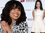 She bangs! Jordin Sparks debuts fresh fringe and shows off her ever-slim figure at world's biggest Words With Friends game
