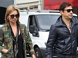 On the go: Kate Moss and Jamie Hince shop in Highgate High Street in North London on Wednesday