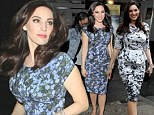 From a Pollock to a Monet! Kelly Brook swaps one arty dress for another as she heads home from Celebrity Juice filming