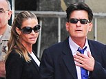 Former spouses Charlie Sheen and Denise Richards make joint court appearance in bid to extend living arrangements for troubled Brooke Mueller's young twins