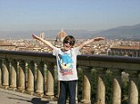 Hands up if you love Florence: Hayden soaks up the scenery on his visit to the Italian city