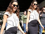 Too many chips? Poor dress choice leaves Eva Longoria with a round belly as she promotes new Lays flavour