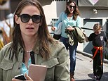 Her very own little karate kid: Jennifer Garner takes eldest daughter Violet for a juice before heading to a martial arts lesson