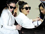 It take's a lot of work to be Givenchy's most beautiful pregnant woman! Kim Kardashian enjoys YET another pamper session