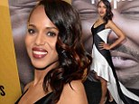 Got the X factor! Kerry Washington displays her toned limbs in floor-length dress at Peeples premiere