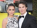 Vampires suck: Nina Dobrev and Ian Somerhalder, pictured earlier this year, have split up after three years of dating