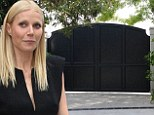 High and mighty: Gwyneth Paltrow and Chris Martin in trouble with neighbours with over their 'too high' gate