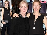 We are family! Kelly Rutherford cuts a classy figure in black top and trouser set to attend NYDJ event with her mother