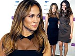 Sharing the limelight! Jennifer Lopez listens while sister Lynda promotes her Global Mom Relay at New York event