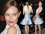 Painfully thin Kate Bosworth displays her bony back at screening of her new horror flick