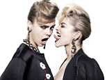 She's loving the ladies! Cara Delevingne gets up close and personal with her BFF Rita Ora in a new Hunger TV shoot