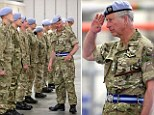 Charles spoke to the service men and women as he presented operational service medals to the squadron along with reservists, who have returned from Afghanistan