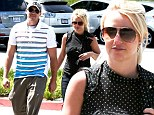 These boots were made for shopping! Britney Spears sports towering footwear for a casual run to the grocery store with her boyfriend