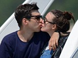 All aboard the love boat: Keira Knightley and her new husband were seen smooching up a storm on the back of a boat during their honeymoon in Corsica