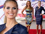 War of the waspish waists! America's Got Talent judge Heidi Klum tries to outshine fellow judge Mel B in tight leather frock at red carpet gala