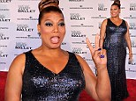 Queen Latifah pours her curves into figure-hugging metallic gown as she joins fashion elite at New York City Ballet gala