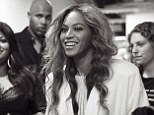 Dressing down: Beyonce shared a snap of herself in a white robe as she prepared to go on stage in Manchester