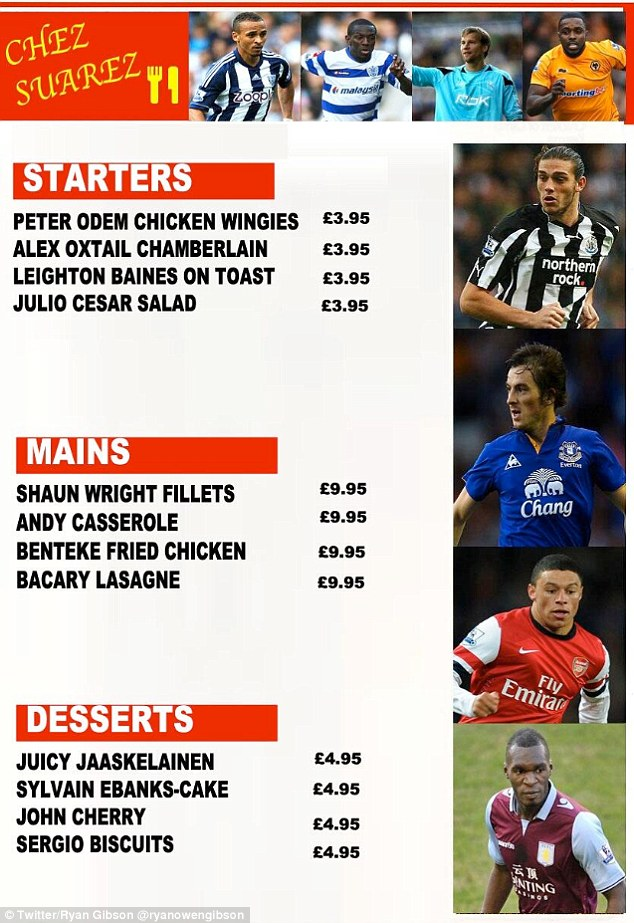 Chez Suarez: Which other footballers could be on the menu?
