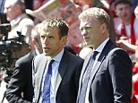 Together again? New Manchester United manager David Moyes wants Phil Neville (left) at Old Trafford