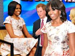 Michelle Obama chooses floral Prabal Gurung dress to meet Prince Harry
