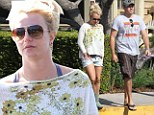 She can't be a cover girl everyday! Britney Spears wear mismatched outfit and messy hair for breakfast date with beau Dave after stunning Shape shoot
